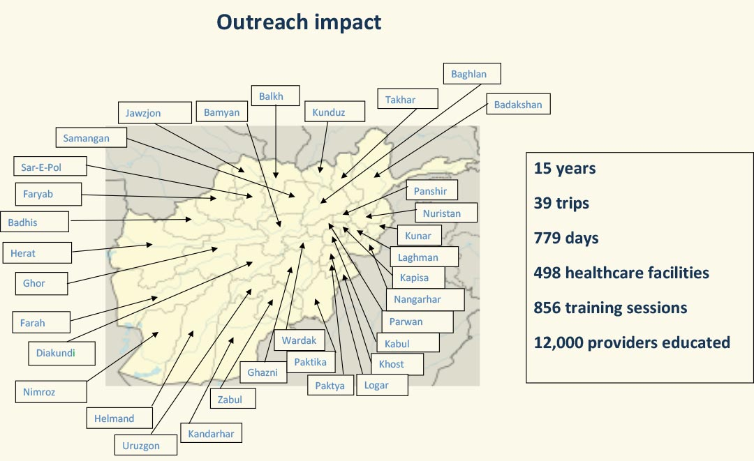 New map of outreach trips to provinces as of 12-19